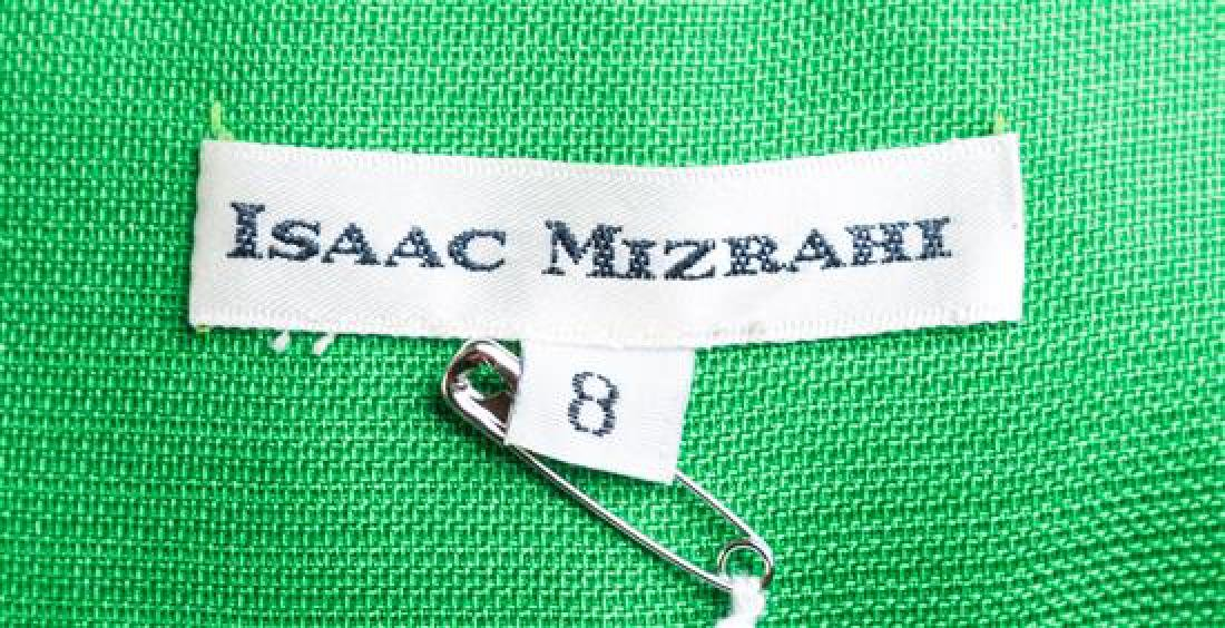 A Isaac Mizrahi Green Silk Jacket, - 3