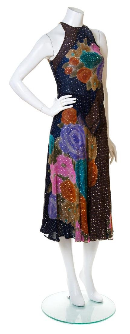 A Judy Hornby Multicolor Silk Tank and Skirt Set,