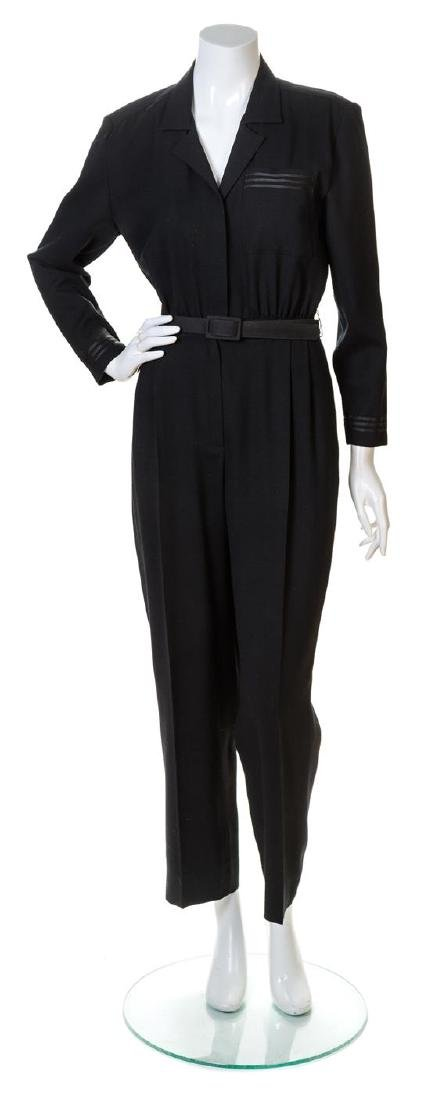 A Mary Ann Restivo Black Jumpsuit,