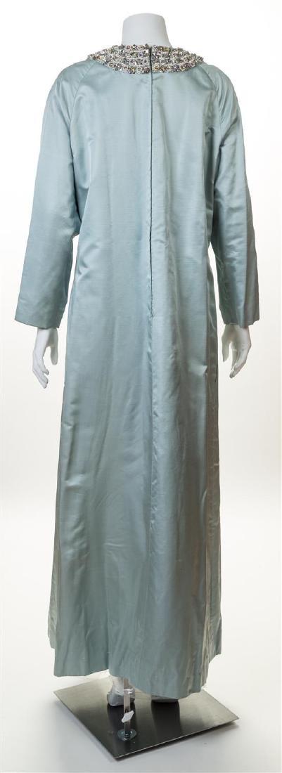 A Malcolm Starr Pale Blue Silk Caftan, - 2