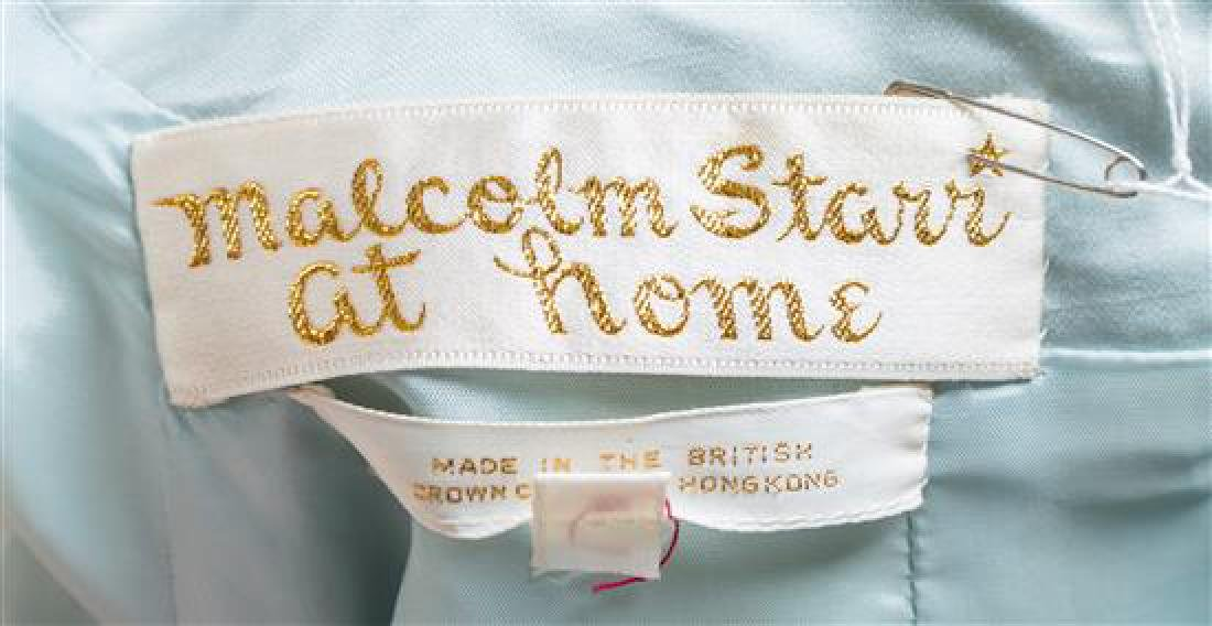 A Malcolm Starr Pale Blue Silk Caftan, - 3