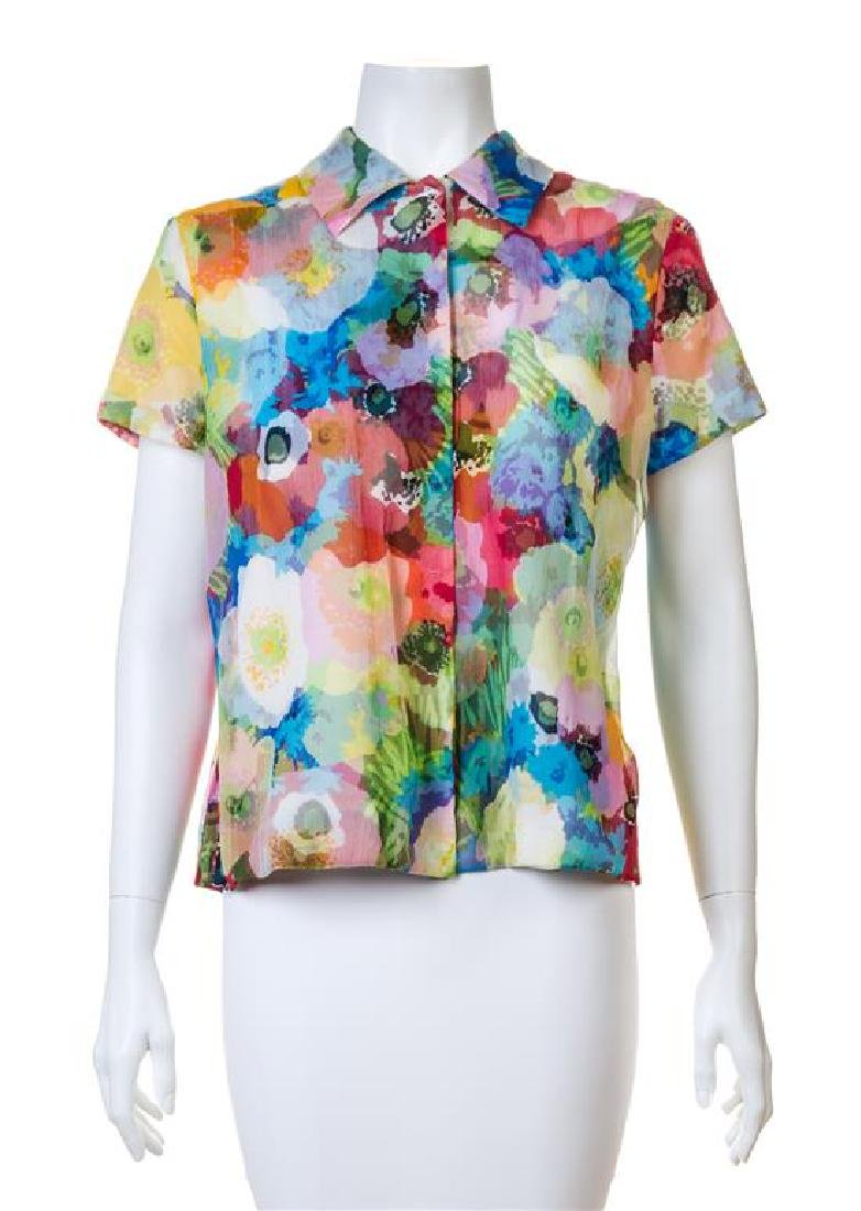 A Moschino Bright Floral Cotton Print Jacket and - 2