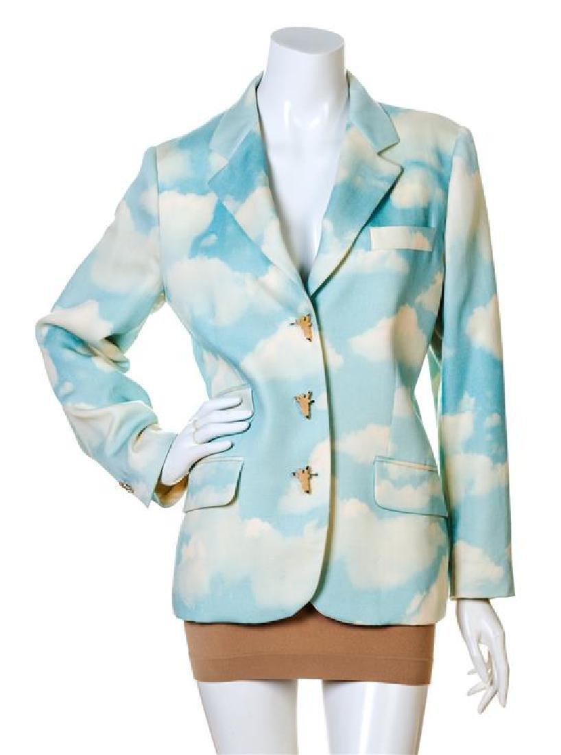 A Moschino Wool Cloud Print Jacket,