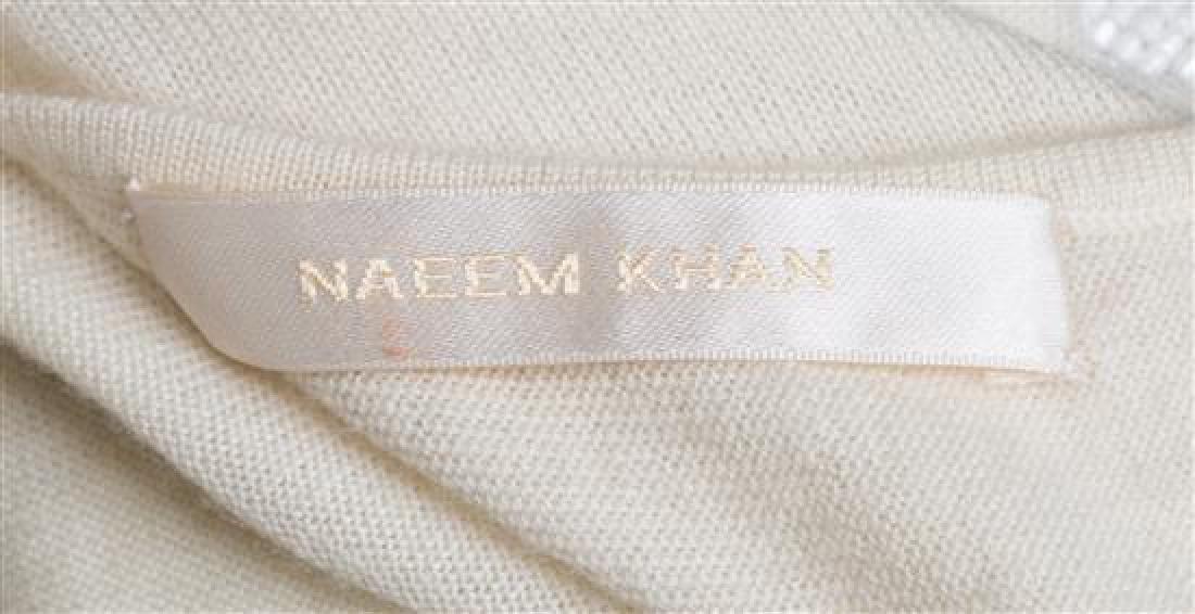 A Naeem Khan Cream Cashmere Beaded Sweater, - 3