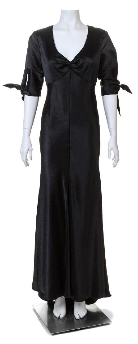 A Naeem Khan Black Silk Gown,