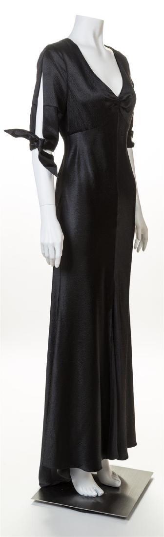 A Naeem Khan Black Silk Gown, - 2