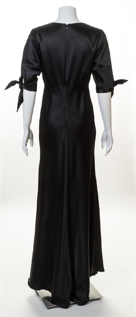A Naeem Khan Black Silk Gown, - 3