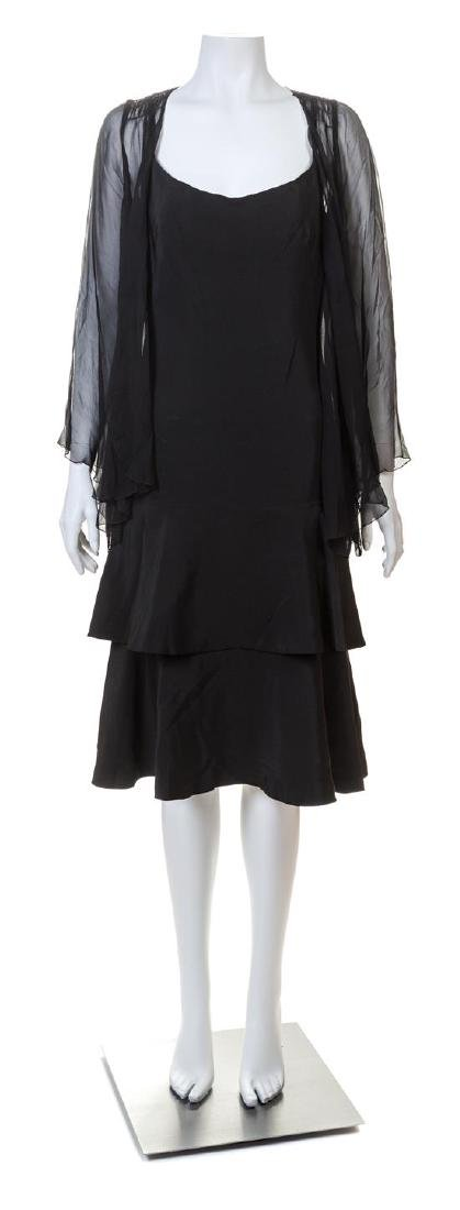A Norman Norell Black Silk Dress,