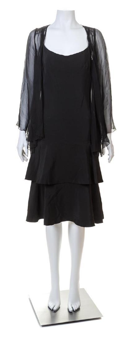 A Norman Norell Black Silk Dress,