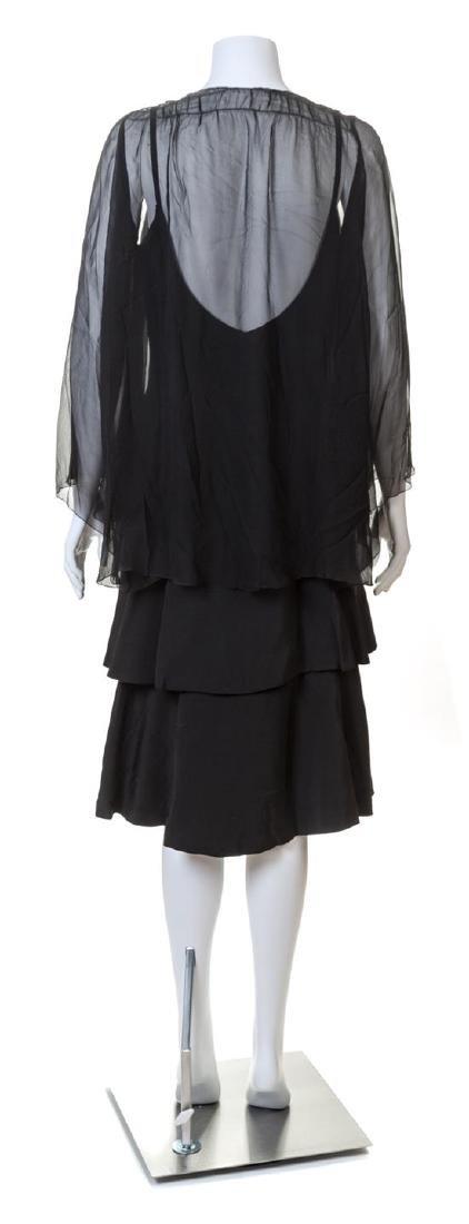 A Norman Norell Black Silk Dress, - 2