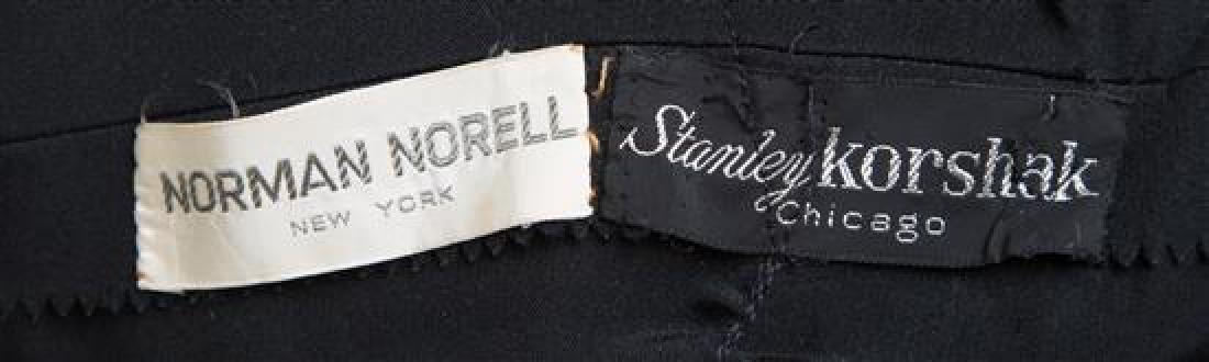 A Norman Norell Black Silk Dress, - 3