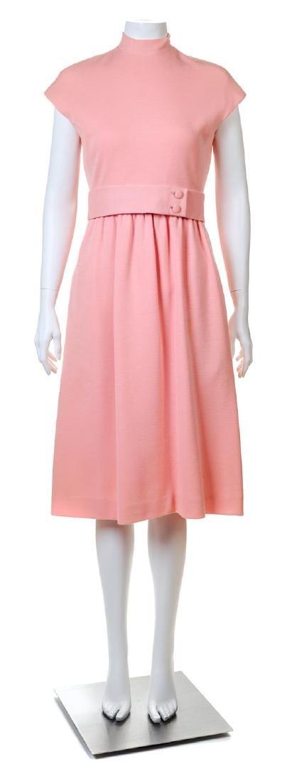 A Norell-Tassell Pink Wool Dress,