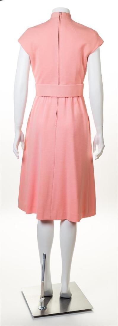 A Norell-Tassell Pink Wool Dress, - 2