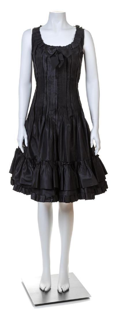 An Oscar de la Renta Black Silk Cocktail Dress,
