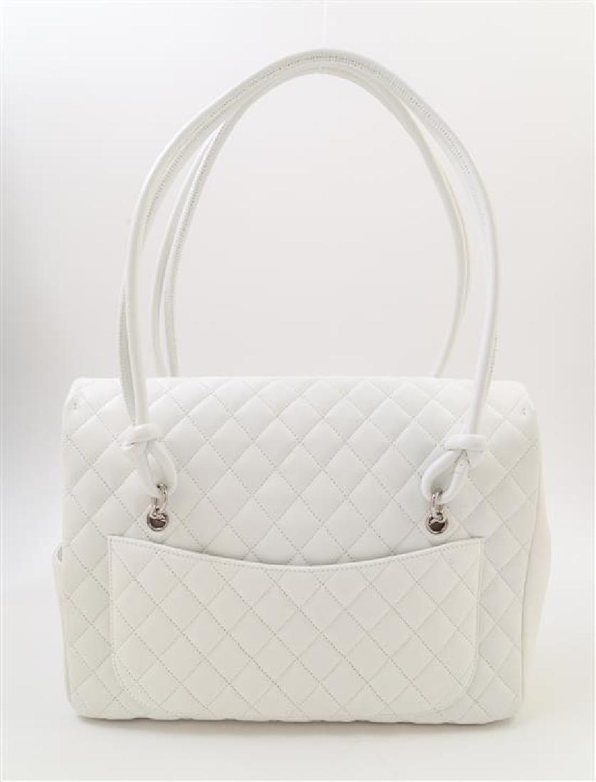 A Chanel White Ligne Cambon Quilted Shoulder Bag, - 3