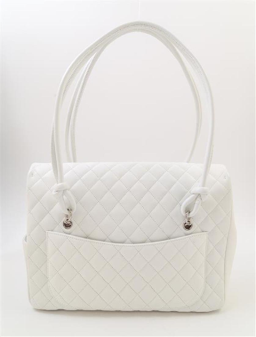 A Chanel White Ligne Cambon Quilted Shoulder Bag, - 3