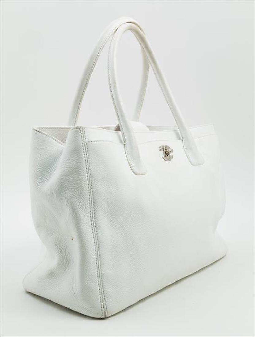 A Chanel White Caviar Tote Bag, - 2