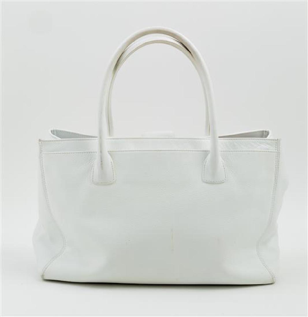 A Chanel White Caviar Tote Bag, - 3