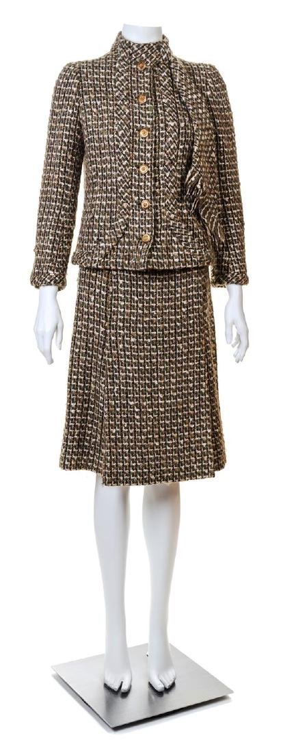 A Chanel Haute Couture 1950s Boucle Skirt Suit,