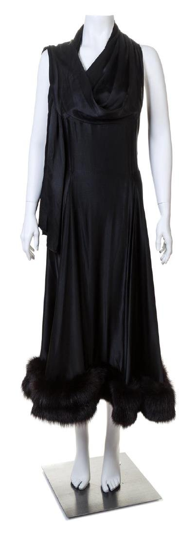A Pauline Trigere 1960s Black Silk Dress,