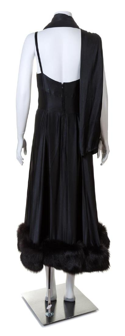 A Pauline Trigere 1960s Black Silk Dress, - 2