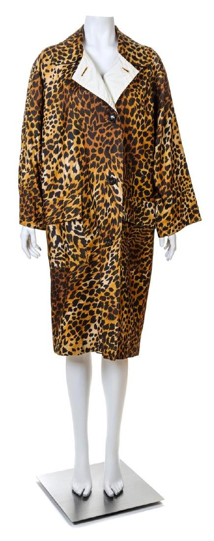 A Givenchy Silk Leopard Print Trench Coat,