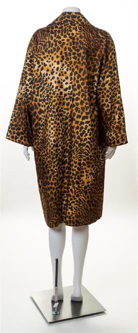 A Givenchy Silk Leopard Print Trench Coat, - 2