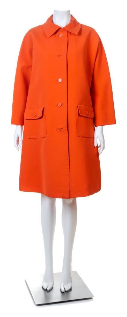A Givenchy 1970s Orange Techno Coat,