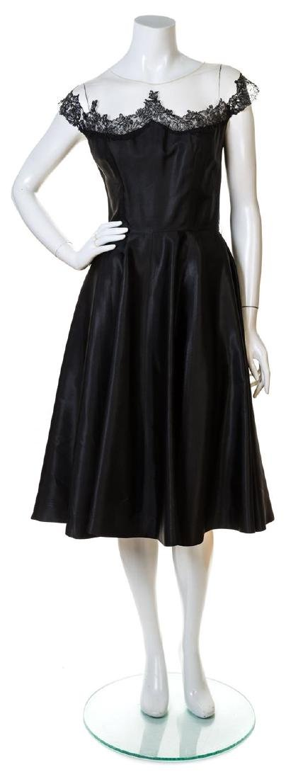 A Peggy Hunt Black Silk Cocktail Dress,