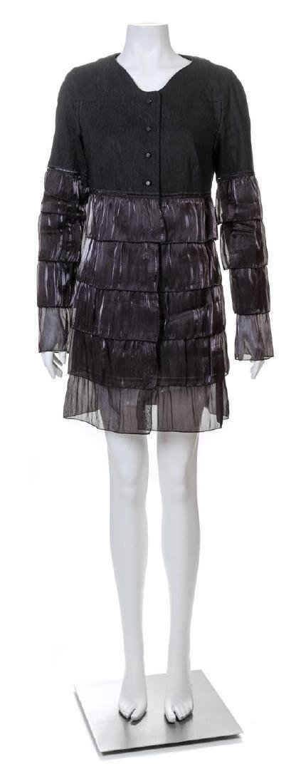 A Rochas Black Tiered Coat,