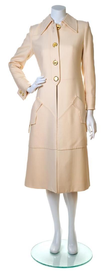 A Ted Lapidus Cream Wool Coat,