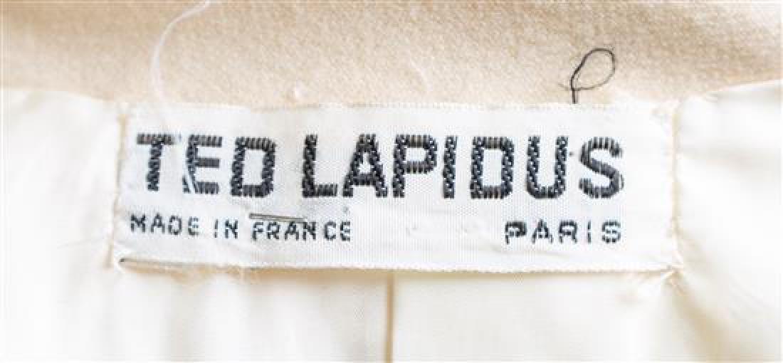 A Ted Lapidus Cream Wool Coat, - 2