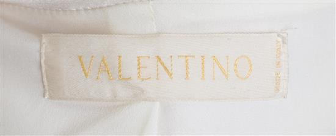 A Valentino Cream Wool Tuxedo Peplum Jacket, - 3