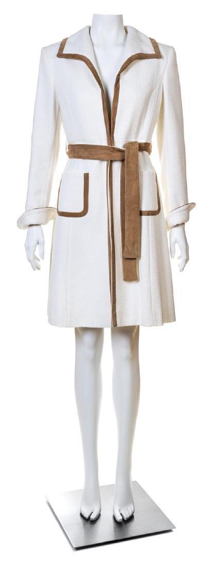 A Valentino Roma White Cotton Coat,