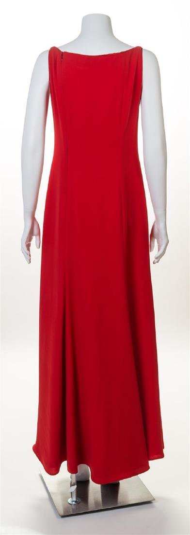 A Valentino Red Sleeveless Gown, - 2