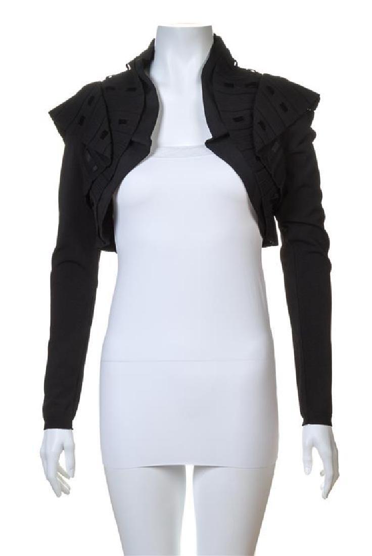 A Valentino Black Knit Bolero Jacket,