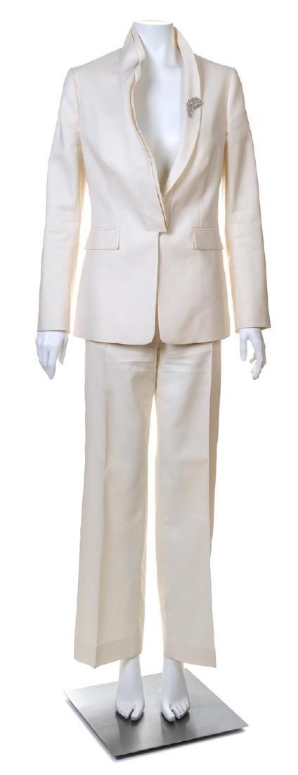 A Valentino Cream Pant Suit,