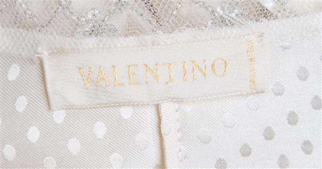 A Valentino Cream Silk Embellished Blouse, - 3
