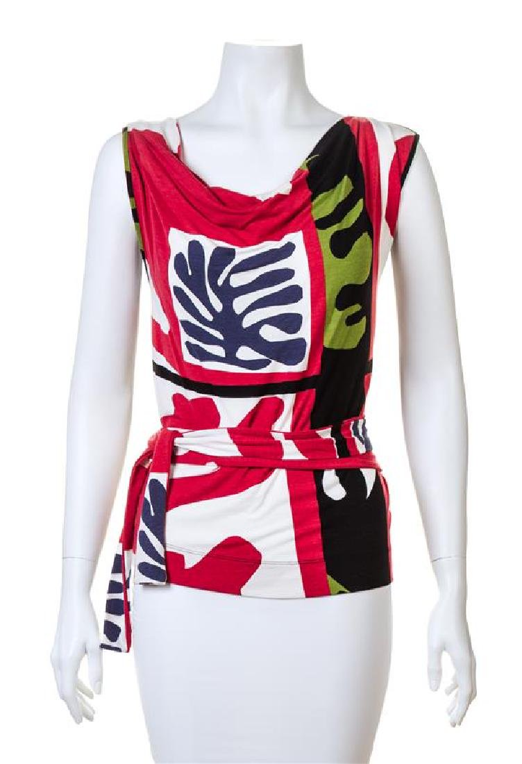 A Vivienne Westwood Matisse Print Sleeveless Top, Size