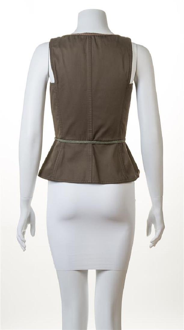 A Saint Laurent Army Green Cotton Vest, - 2