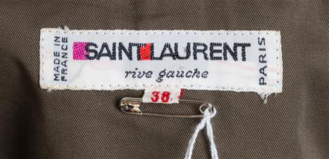 A Saint Laurent Army Green Cotton Vest, - 3