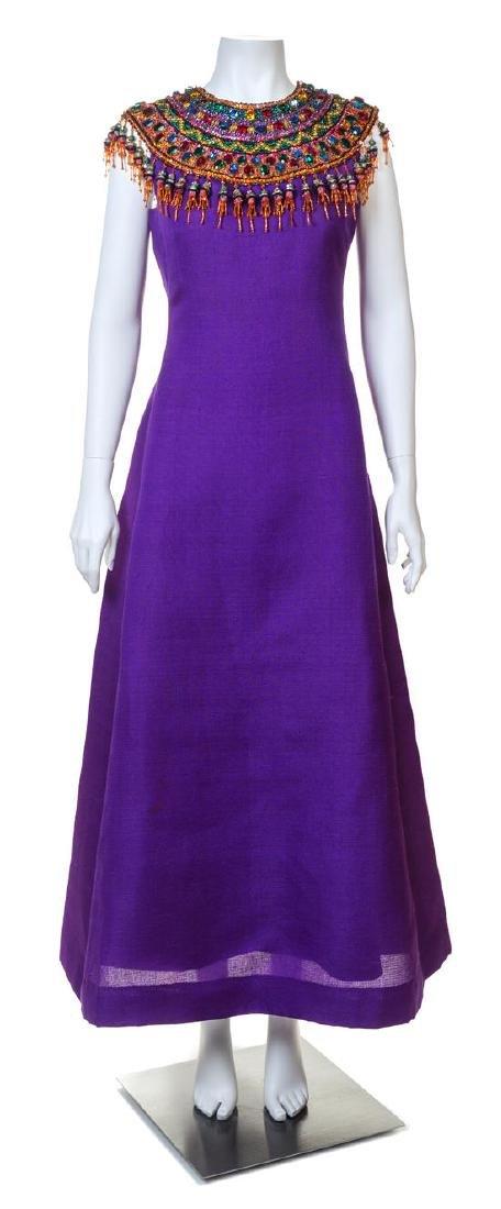 An Yves Saint Laurent Haute Couture Purple Raw Silk