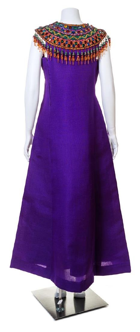 An Yves Saint Laurent Haute Couture Purple Raw Silk - 3