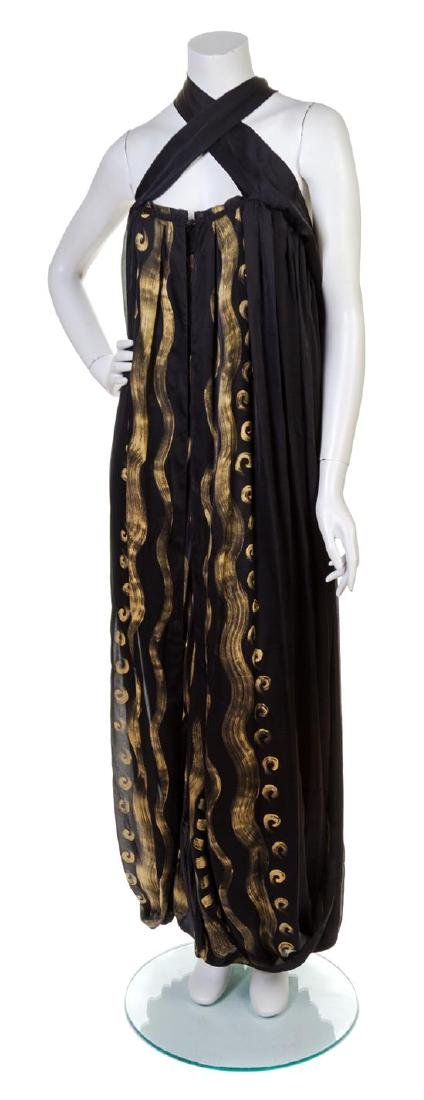 A Yves Saint Laurent Black Silk Gown,