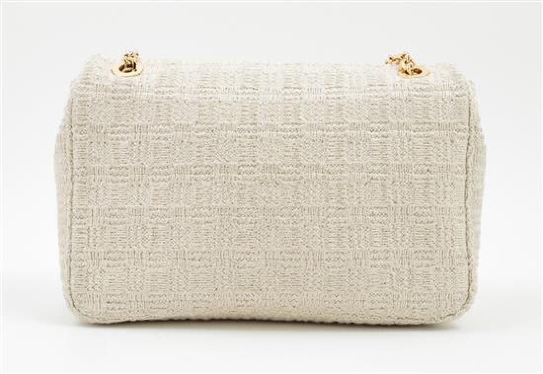 A Judith Leiber Cream Tweed Flap Handbag, - 3
