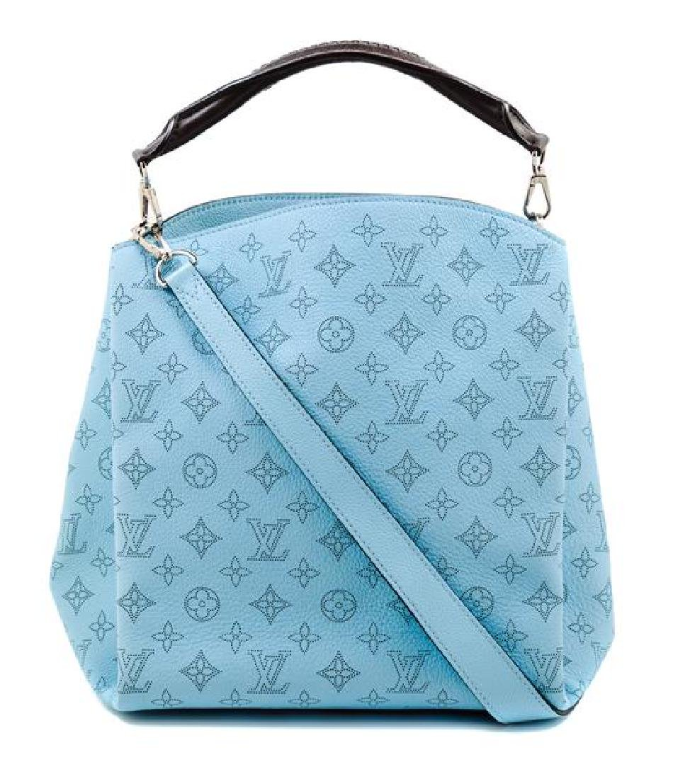 A Louis Vuitton Blue Selene Cross Body Satchel,