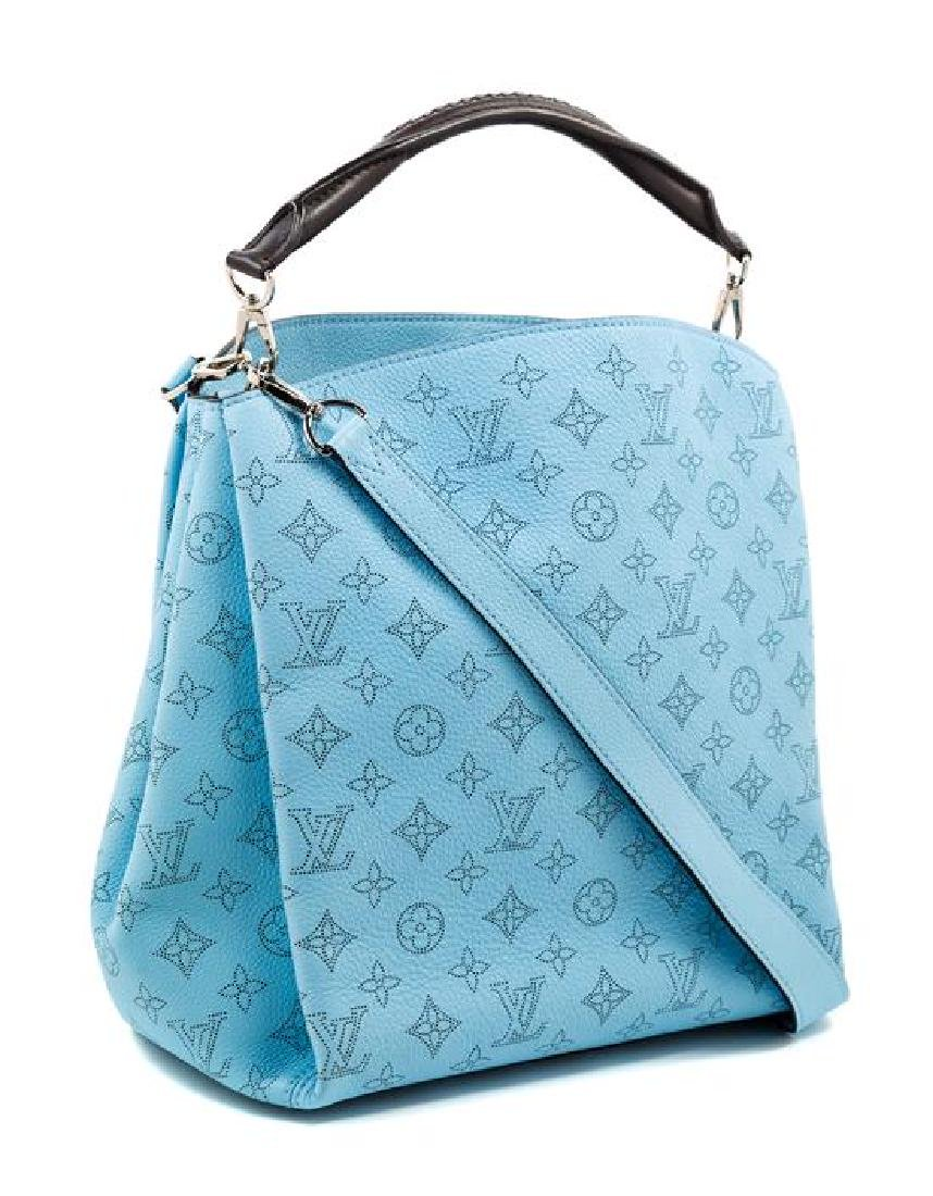 A Louis Vuitton Blue Selene Cross Body Satchel, - 2