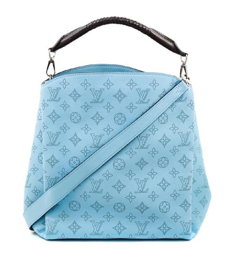 A Louis Vuitton Blue Selene Cross Body Satchel, - 3
