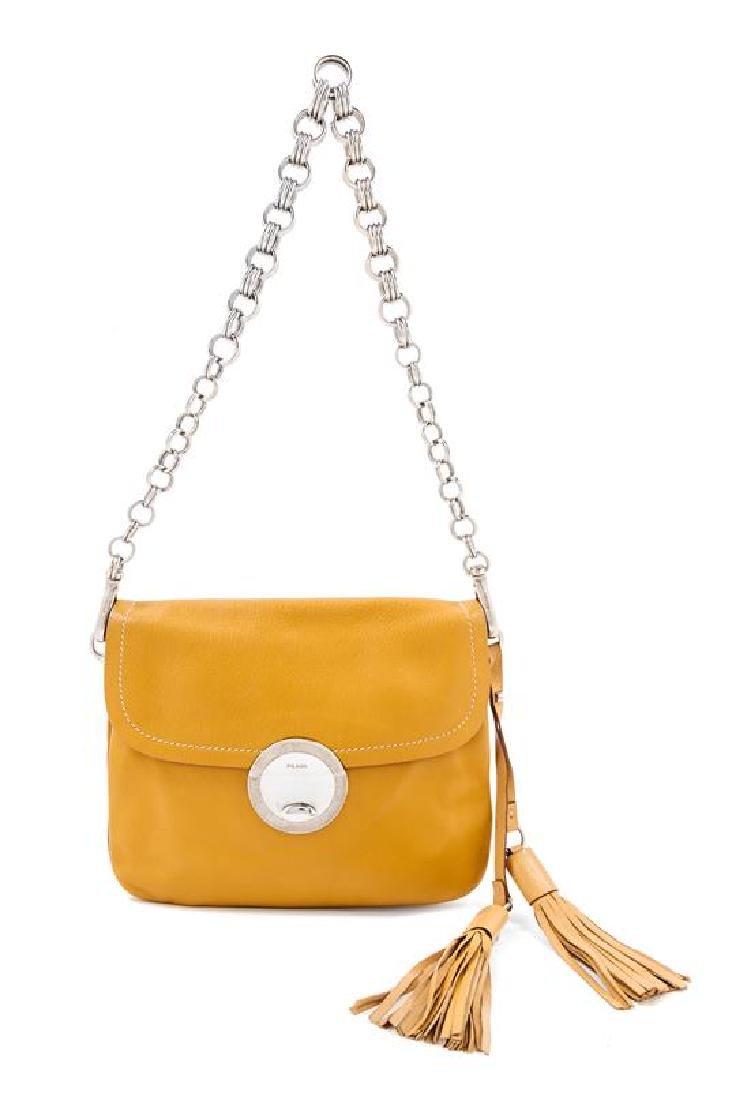 A Prada Camel Leather Handbag,