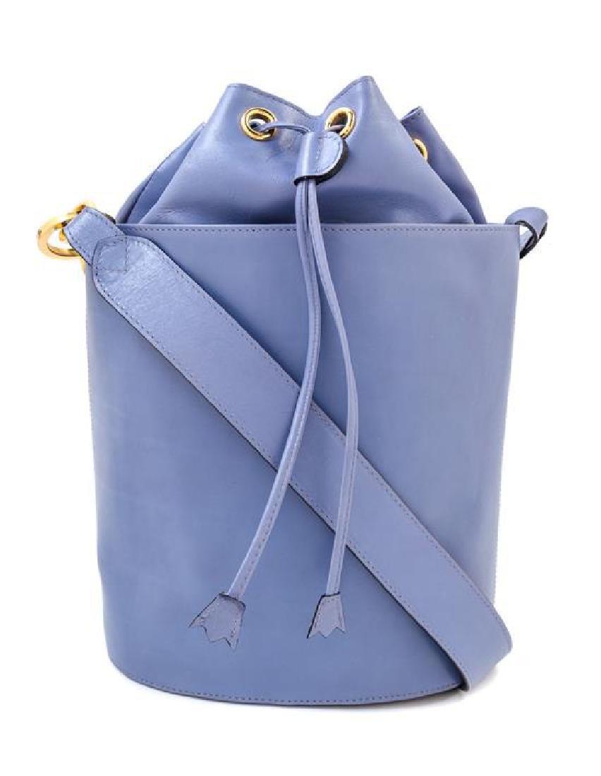 A Salvatore Ferragamo Sky Blue Bucket Bag,